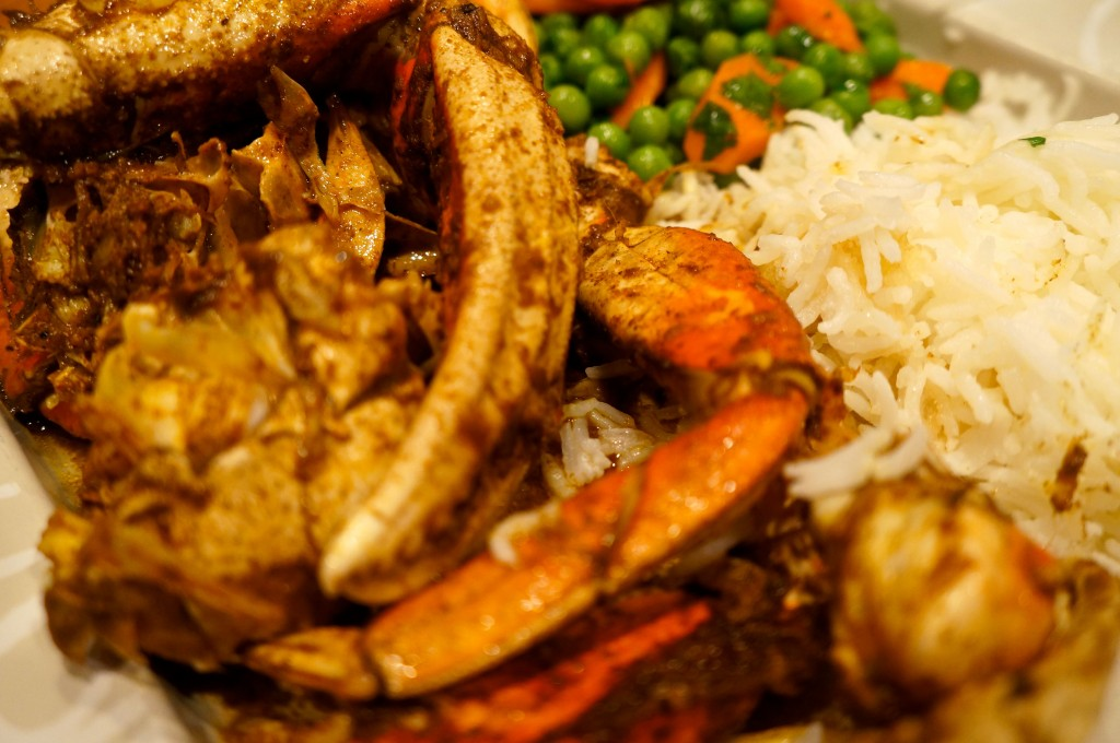 fresh dungeness crab cook in a tagine