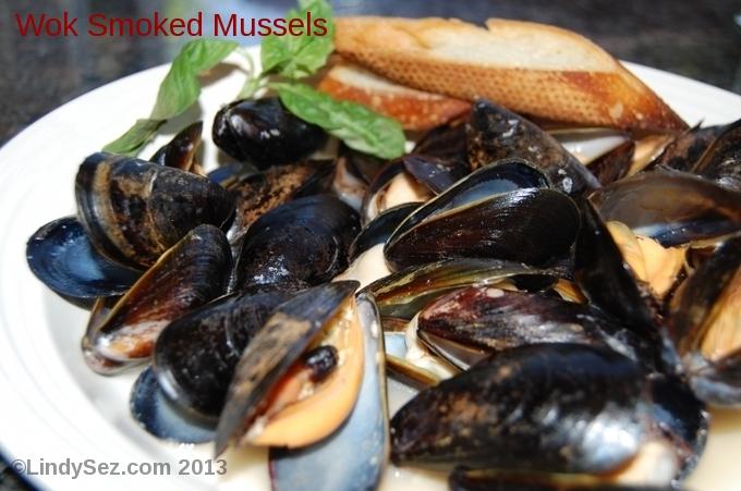 wok smoked mussels