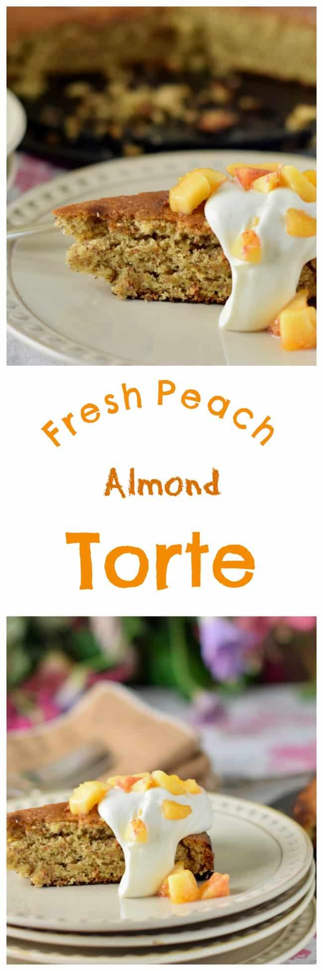 Fresh Peach Almond Torte